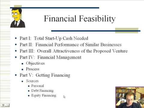 Part 1 Financial Feasibility Analysis - YouTube