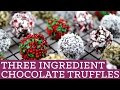3 Ingredient Chocolate Truffles: Edible Gifts - Mind Over Munch Episode 38
