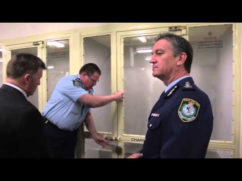 Police unveil new custody complex at Surry Hills Police.