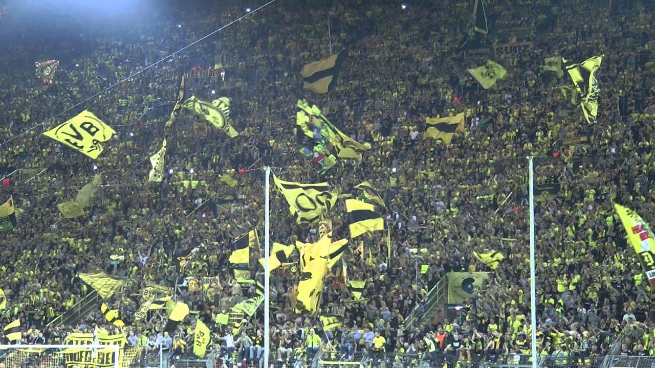 Borussia Dortmund - Real Madrid BVB - Nach dem Spiel 4-1 Atmosphere Stimmung