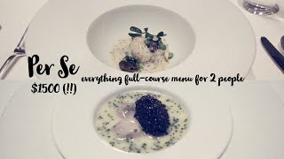 Per Se - Michelin Three Stars - Complete Course Menu