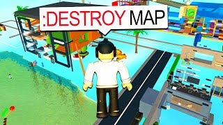 USING ADMIN COMMANDS TO DESTROY THE MAP!! (Roblox)