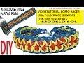 COMO HACER PULSERA DE GOMITAS SOL (SUN BRACELET) CON DOS TENEDORES. VIDEO TUTORIAL