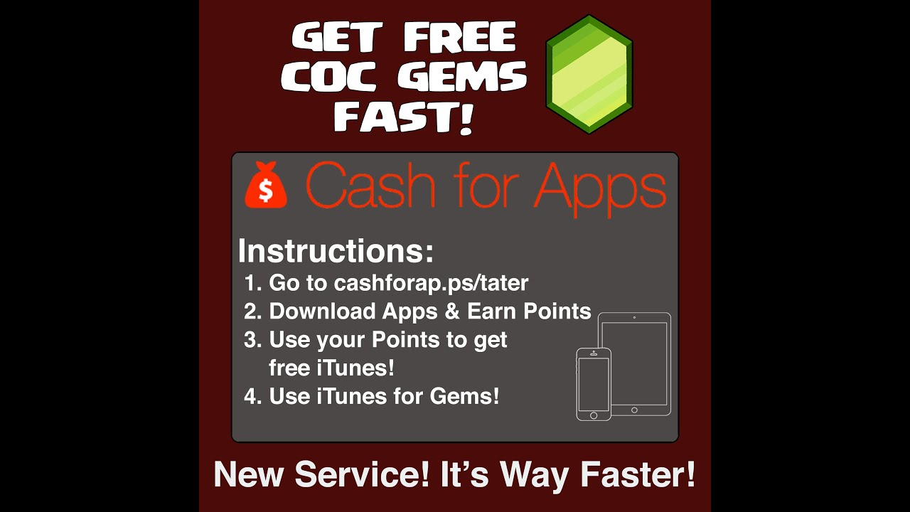 Free Gems, Diamonds, and Coins with Cash for Apps - YouTube