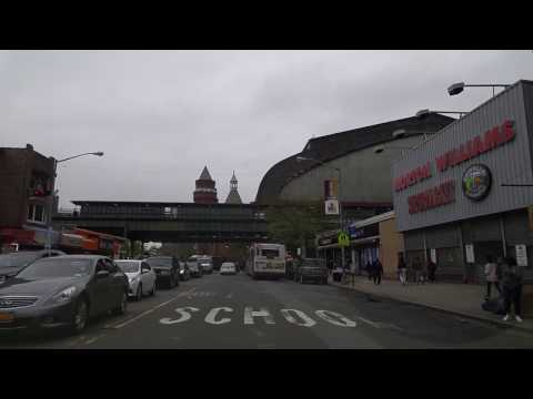 Driving from Fordham Manor in The Bronx to Marble Hill in Manhattan,New York