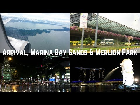 Singapore Trip: Day 1 | Arrival, Marina Bay Sands & Merlion Park