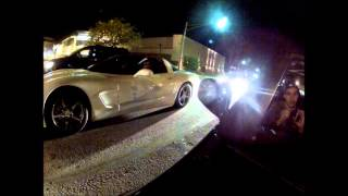 Woodward Avenue Evo vs C6 Vette, Z06 Vette, PTE6266 Evo, Blown 5.0 Stang