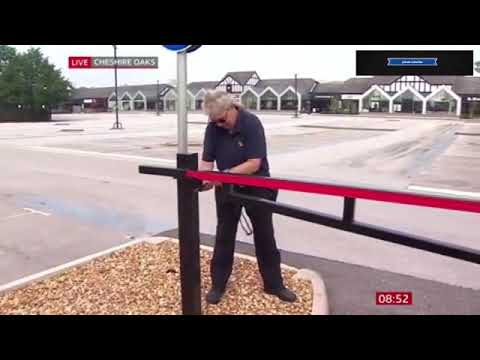 Awkward Moment Gate Cannot Be Opened At Shopping Centre Reopening