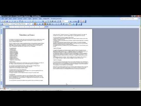 how to print on both sides of a sheet of paper (duplex)
