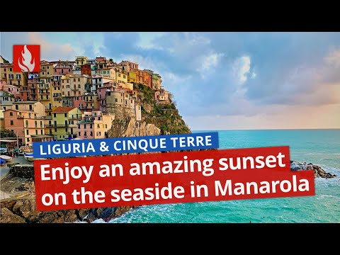 Tramonto bellissimo a Manarola › enjoy an amazing sunset in the Cinque Terre #andratuttobene