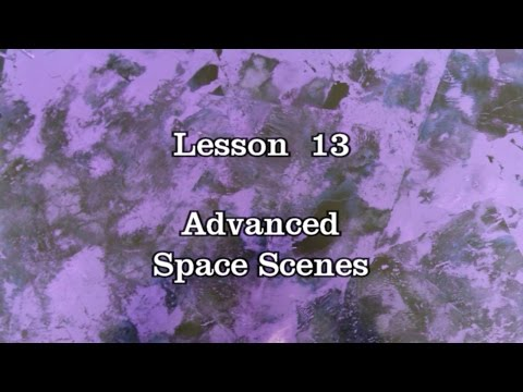 Lesson 13: Advanced Space Scenes- Spray Paint Art workshop by DATSAS
