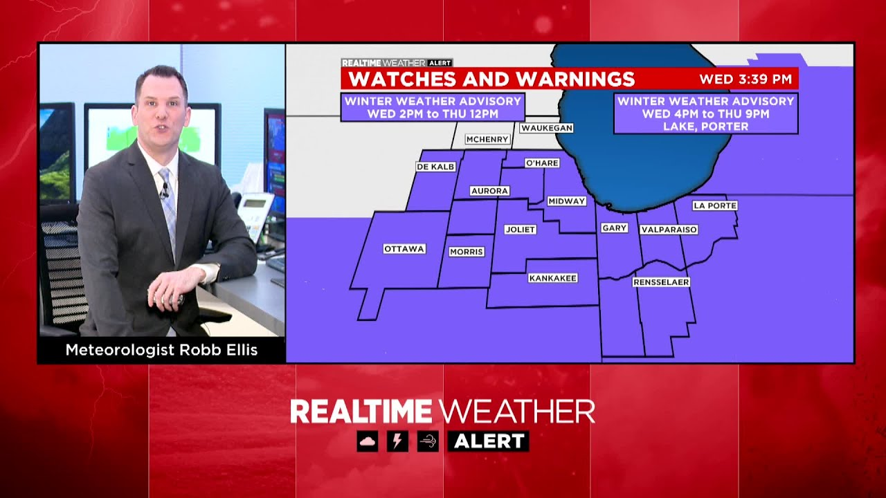Winter weather real-time updates