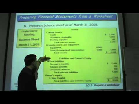 Principles of Accounting - Lecture 11 - The Accounting Cycle
