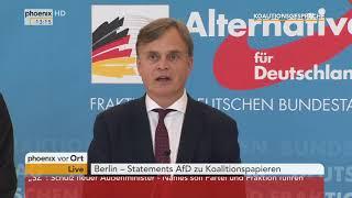 Alexander Gauland und Bernd Baumann zum Ergebnis der Koalitionsverhandlungen am 07.02.18