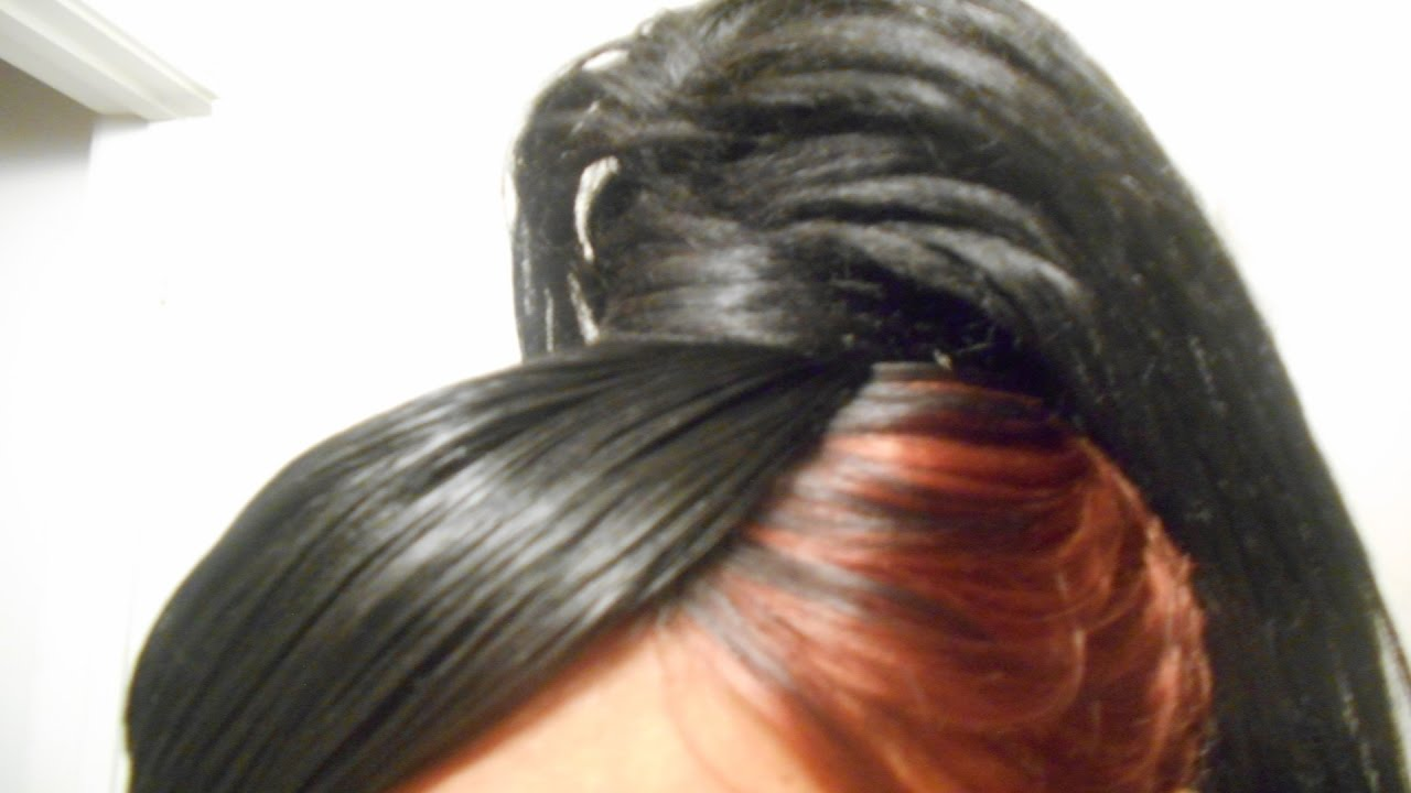 27 piece quick weave with ponytail tutorial - youtube