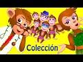 Cinco Monitos Saltando En La Cama | Canciones Infantiles Populares Colección | ChuChu TV