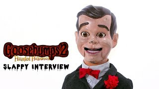 Http://www.hollywood.comslappy the dummy tells us who he plays, his halloween problems, what thinks of costars, and more in this interview.'goosebumps...