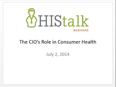 The CIO's Role in Consumer Health