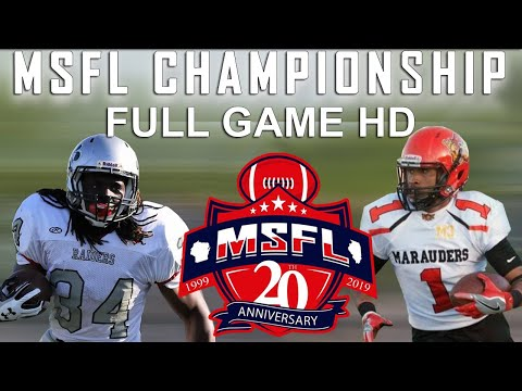 MSFL 2019 Championship Full Game In HD