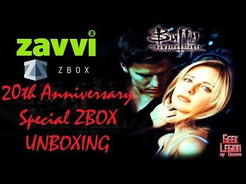 BUFFY THE VAMPIRE SLAYER 20th Anniversary Zavvi ZBox mystery subscription box Unboxing