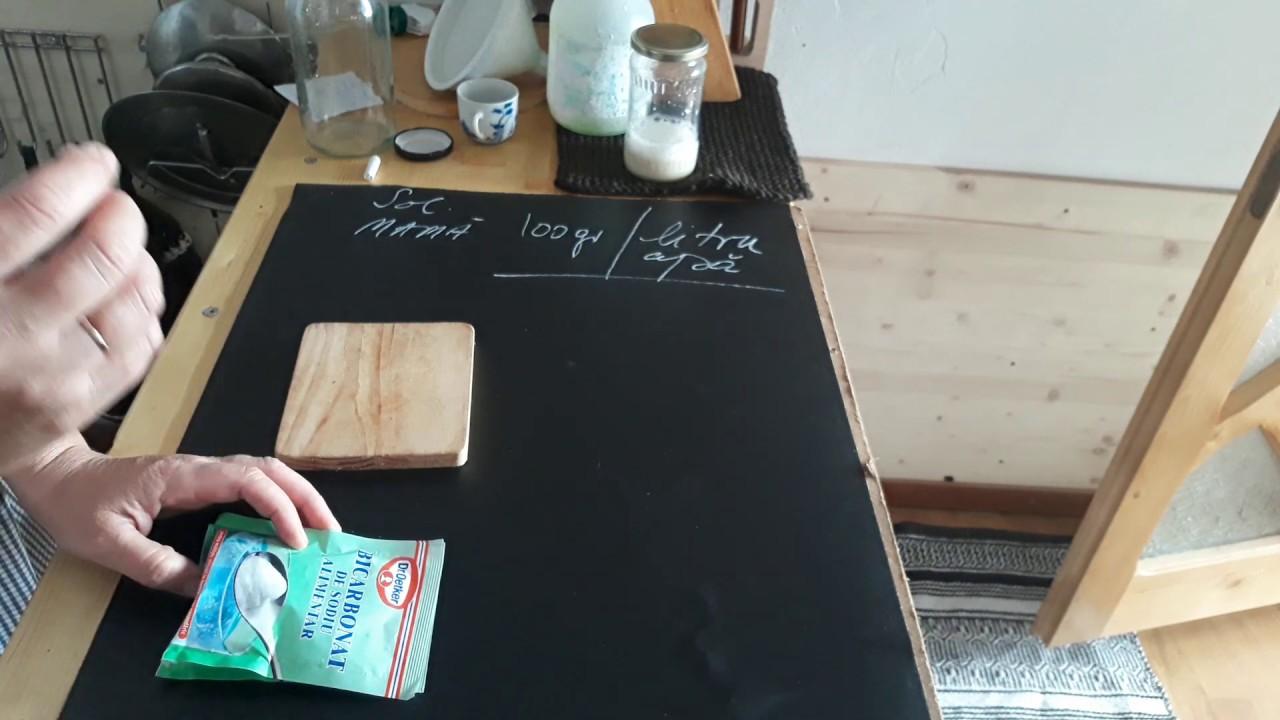 Cum facem Soluția Mamă de bicarbonat de sodiu, pentru lupta cu mana