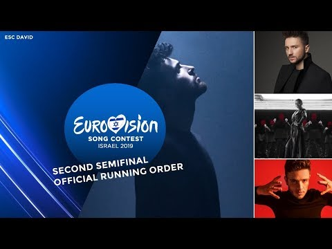 Second Semifinal · Official Running Order · Eurovision Song Contest 2019
