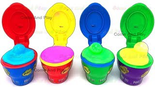 Fun With Slim Flarp! Noise Putty Surprise Toys and Learn Colors with Play Doh