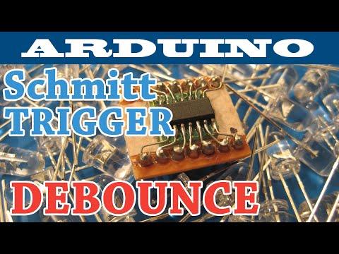 Arduino Interrupts - Schmitt Trigger Debounce Circuit