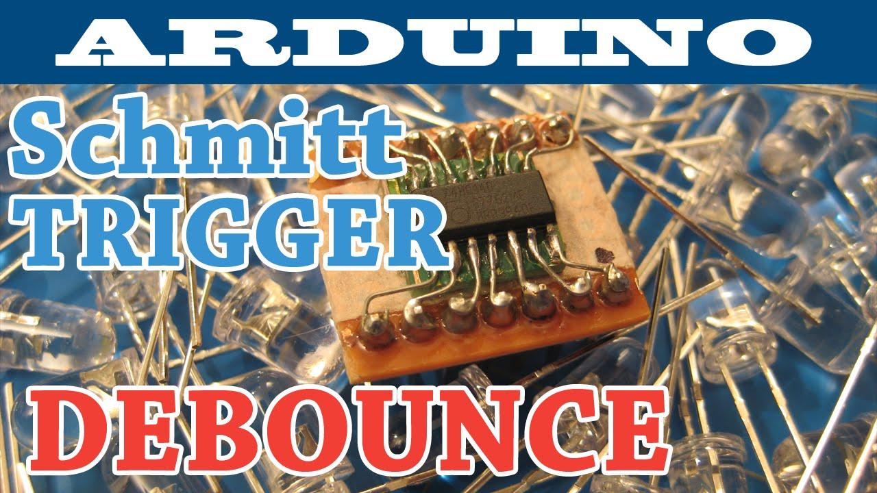 Arduino Interrupts | Schmitt Trigger Debounce Circuit | Salvaging Components