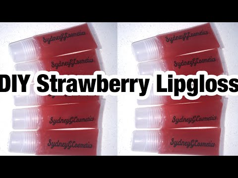 DIY Strawberry Lipgloss