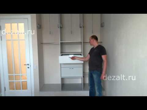 Встроенный шкаф в спальню без дверей