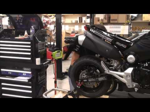 Honda Grom REAR Brake Upgrade ( Brembo 34mm Caliper, Tyga bracket) PART 1 - Hardracing