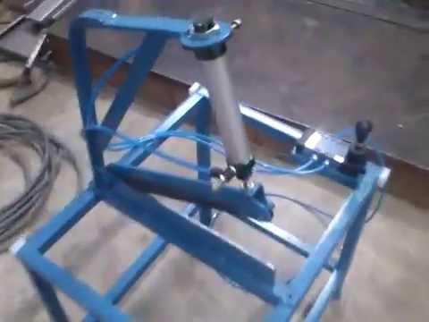 Pneumatic Sheet Metal Cutting Machine Youtube