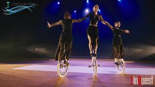 UniCircle Flow: All That Jazz (Trio) on STAGE 一輪車演技 Unicycle Dance