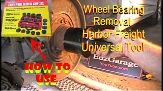 Wheel Bearing Removal with Harbor Freight Universal Tool BMW 3 Series Rear Front