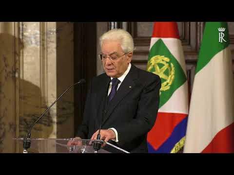 Intervento del Presidente Mattarella all'incontro con il Corpo Diplomatico