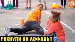 ► Падение Баскова и Федункив напугало поклонников. Артистка сильно ушибла локоть