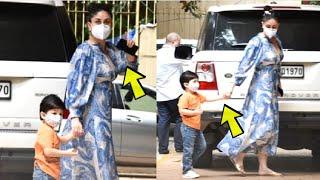 Watch! Kareena Kapoor Son Looking CUTE In MASK During Lockdown