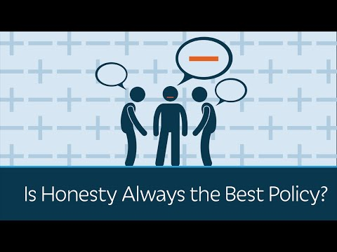 Is Honesty Always the Best Policy?