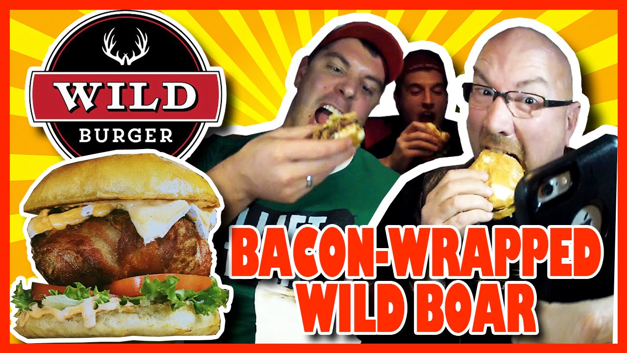 Bacon Wrapped Wild Boar Ancho Burger Review w Randy Santel & Magic Mitch