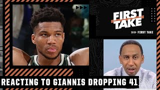 Stephen A. reacts to Giannis dropping 41 in the Bucks' Game 3 win over the Suns