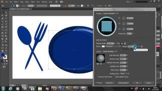 Adobe illustrator cs6 design Dish and fork and spoon and knife