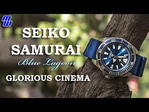 Seiko Samurai Blue Lagoon Glorious Cinema Straps Video (SRPB09)