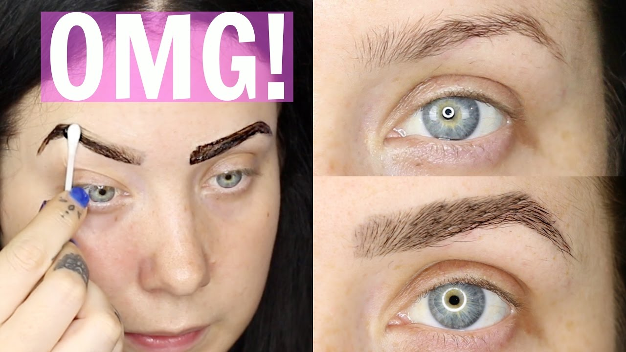Semi Permanent Brows How To Tint Your Brows Jade Madden Youtube