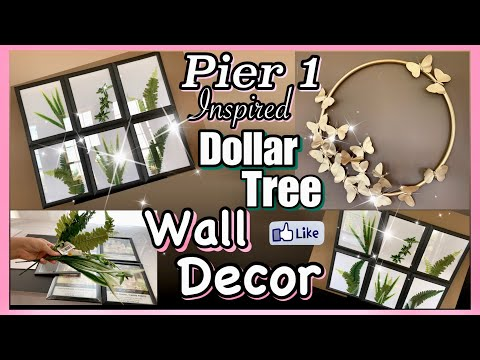 Dollar Tree DIY WALL DECOR!