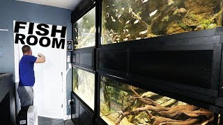 The NEW fish room!!!
