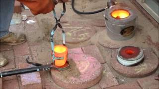 Melting Down Copper Wire Into Ingots