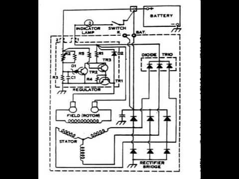 alternator wiring diagram youtube rh youtube com Chevy Alternator Wiring Diagram One Wire Alternator Diagram Schematics