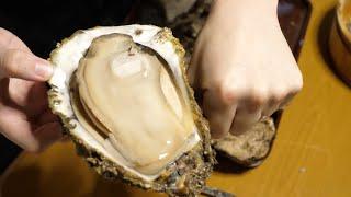 【一人BBQ】市場で見つけた ばけものサイズの『岩牡蠣』炭火と生牡蠣で食いまくる!