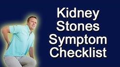 Kidney Stones Symptoms Checklist